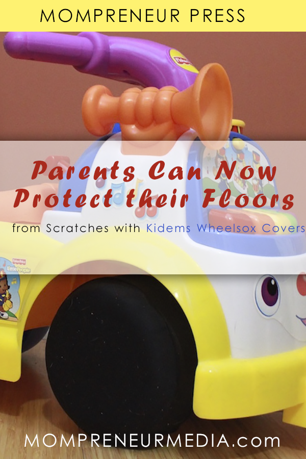 The Kidems Wheelsox Cover is a universal wheel cover which fits over the hard plastic wheels of Ride-on toys so that the floors are protected.