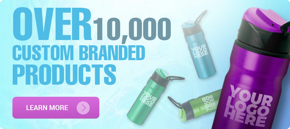 Over 10,000 custom branded products to use for your business.