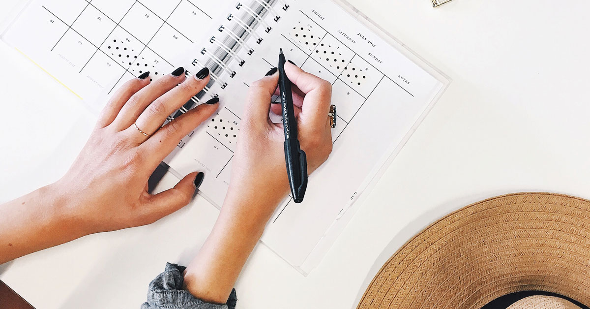 Invest in a planner and put yourself on your to-do list